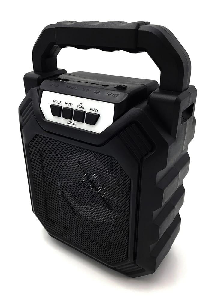 Image of PLAYBOX SHAKE BT - Kompaktowy głośnik Bluetooth, 280W PMPO. zwiększona odporność na wstrząsy, FM, MP3, AUX, USB, micro SD card, akumulator Li-Io