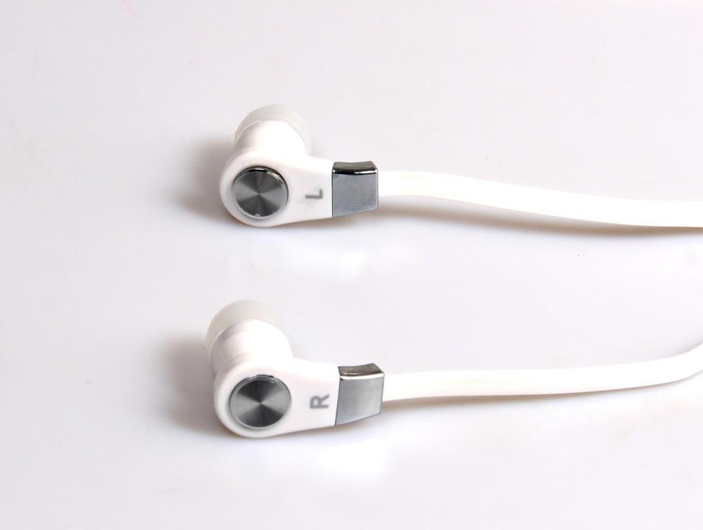 MAGICSOUND DS-2 - Słuchawki douszne z mikrofonem kompatybilne z większością telefonów, tabletów, odtwarzaczy multimedialnych. Białe