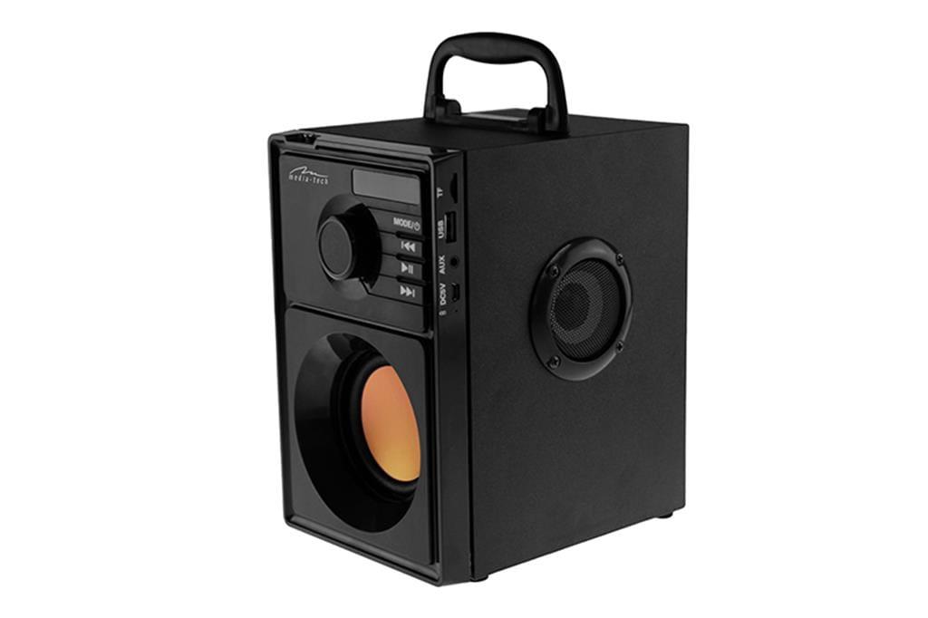 Image of BOOMBOX BT MT3145_V2 - Kompaktowy głośnik Bluetooth stereo z wbudowanym wooferem, 600W PMPO. FM, MP3. Wbudowany akumulator. Pilot